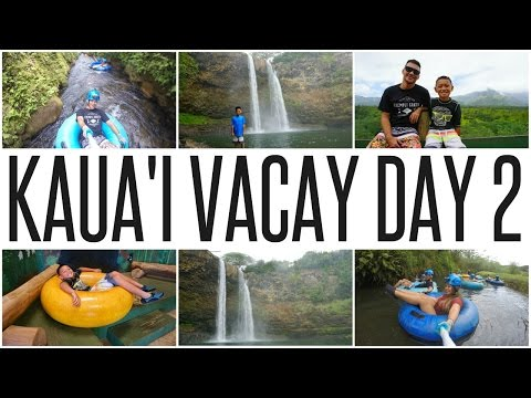 KAUA'I DAY 2: SWIMMING AT WAILUA FALLS & TUBING!