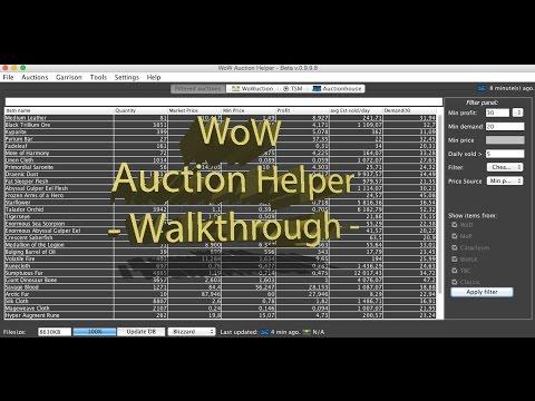 WoW Auction Helper Walkthrough
