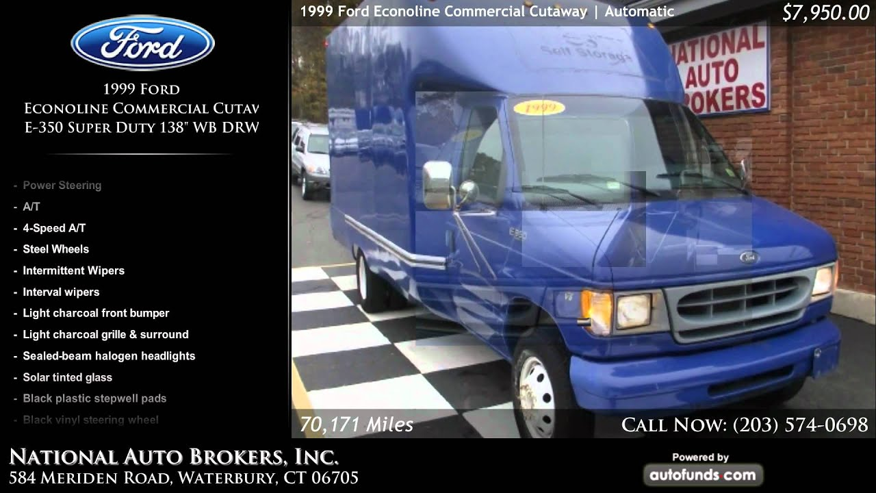 1999 ford econoline commercial cutaway e 350 super duty 138 wb drw national auto brokers sold