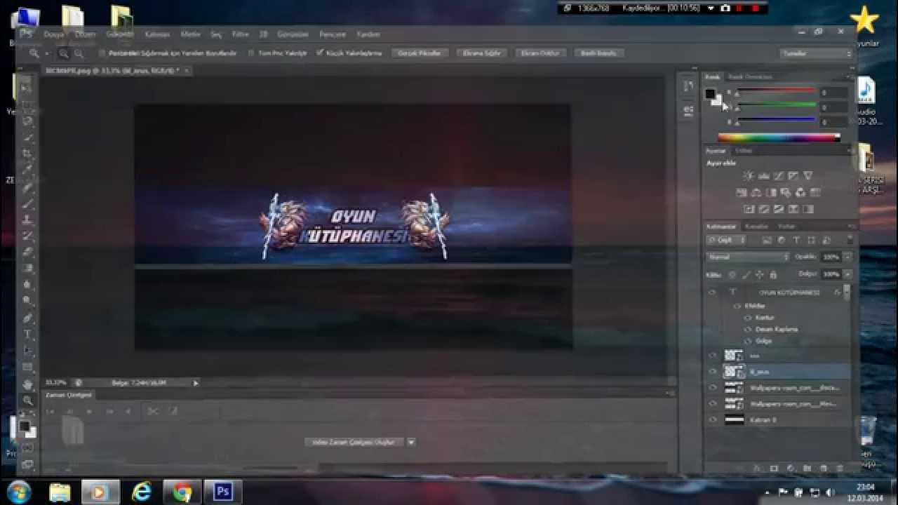 Adobe Photoshop Cs6 Youtube Kapak Resmi Hazırlama Basit Bir