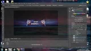 Adobe Photoshop Cs6 - Youtube Kapak Resmi Hazırlama (Basit bir deneme)