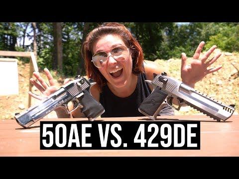 50AE vs 429DE - Desert Eagles at 10,000 FPS Slow Mo!