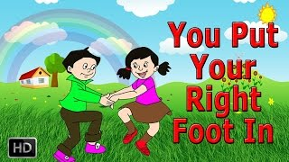 You Put Your Left Foot In, You Put Your Left Foot Out - Nursery Rhymes Songs