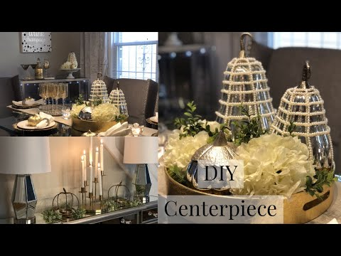 FALL DECORATE WITH ME | DINING ROOM STYLING TIPS + DIY CENTERPIECE | GLAM TABLESCAPE