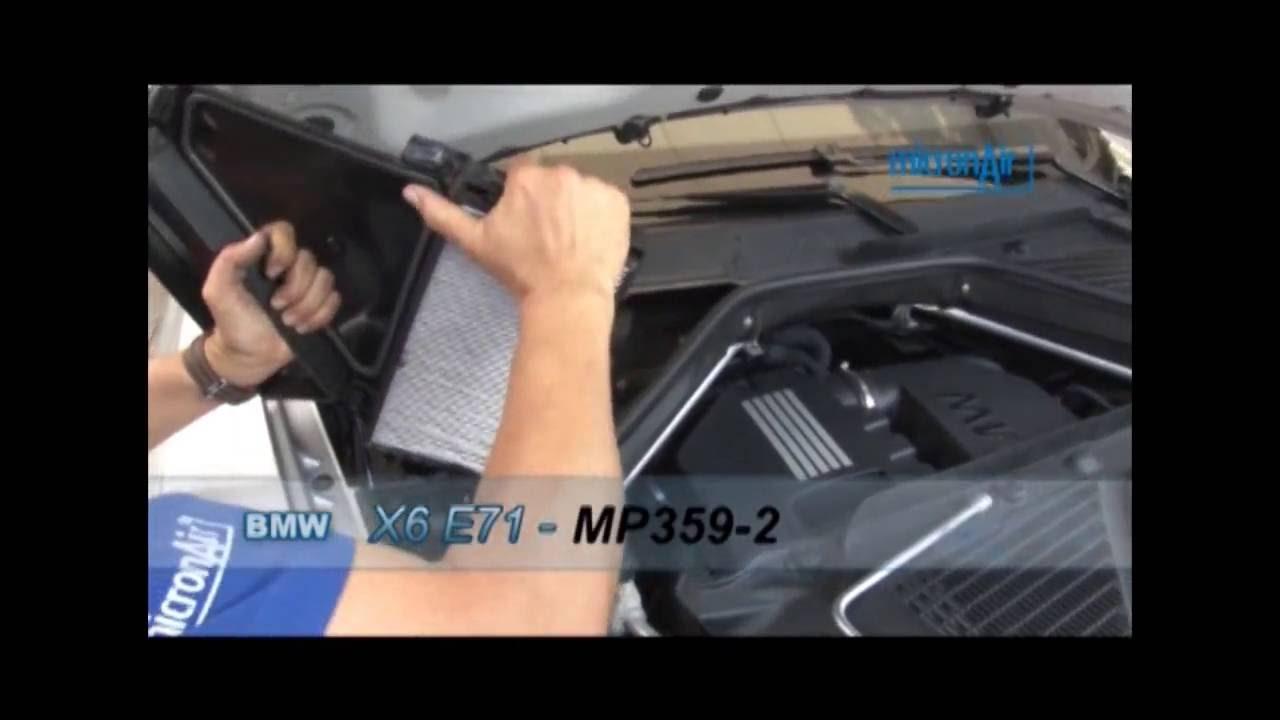 Malhaweb Automotive Bmw X6 E71 Como Trocar O Filtro De Ar Condicionado Cabine Youtube