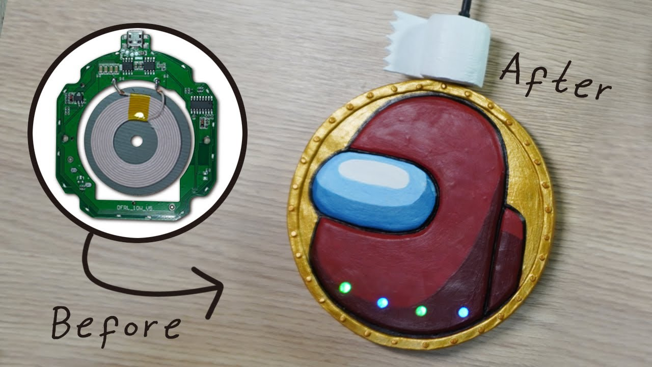 Making Among Us Charger with Polymer Clay/어몽어스 충전기 만들기