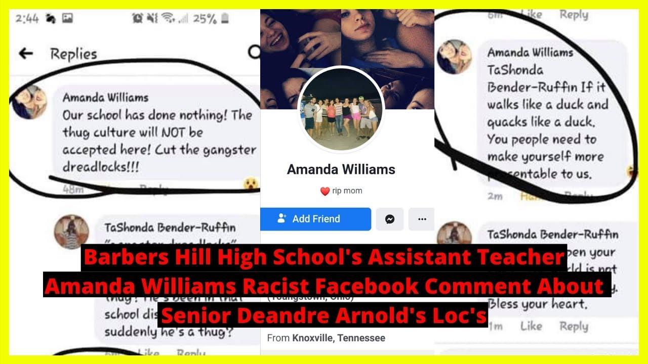 |NEWS| Barbers Hill High School's Assistant Teacher Amanda Williams Racist Facebook Comment