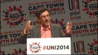 Ebrahim Patel opens UNI World Congress in Cape Town