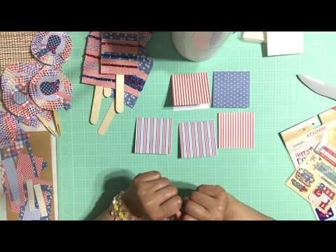DIY - Fourth of July Mini Note Cards or Thank You Cards - Easy & Simple Tutorial