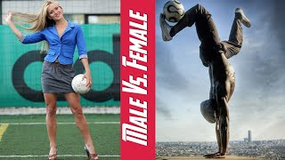 The amazing football freestyle male vs. female | awesome soccer skills edition | hd 2016