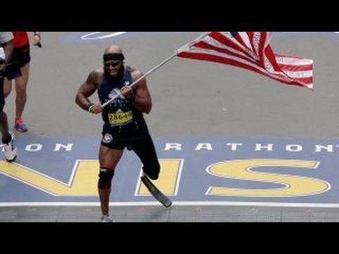 Wounded veterans conquer Boston Marathon