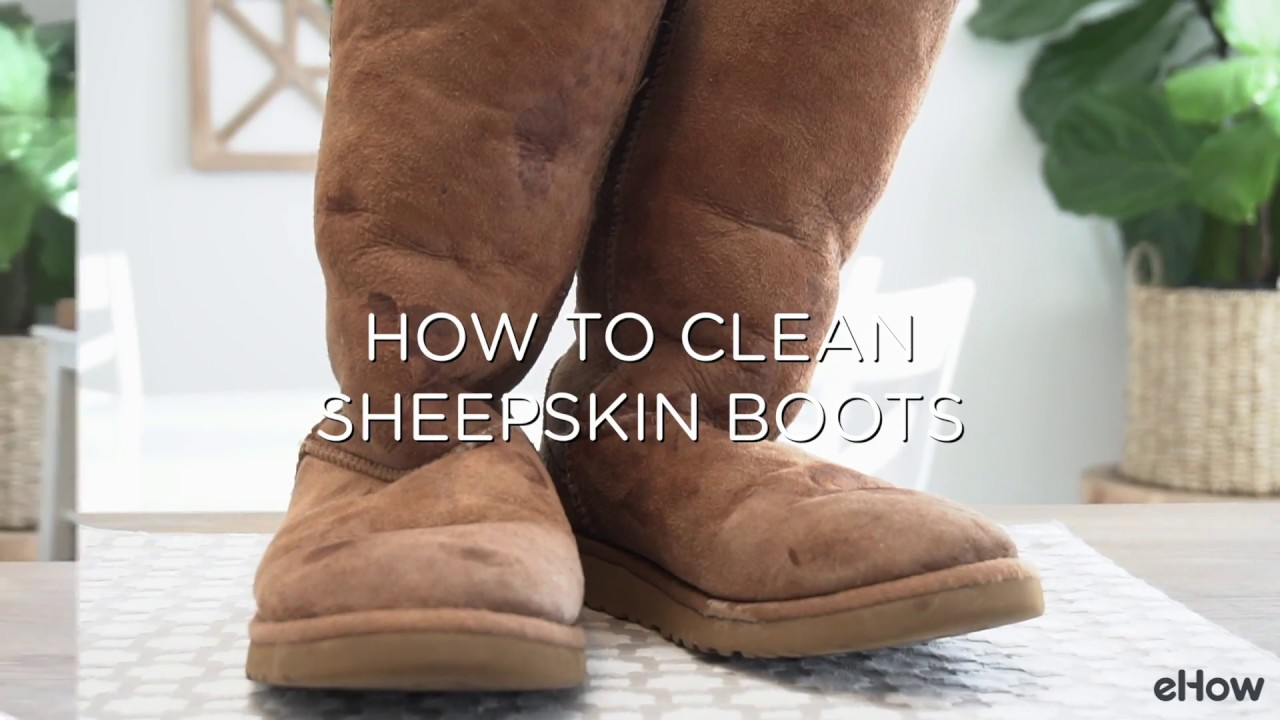 a0e08525ad Easy Way to Clean Sheepskin Boots - YouTube