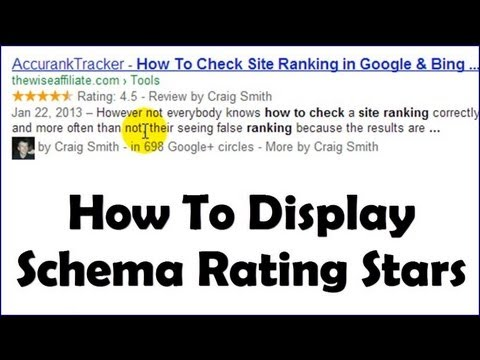 Dispaly Rating/Review Stars In Google Search - Schema & Wordpress