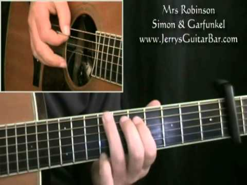 How To Play The Introduction To Simon Garfunkel Mrs Robinson