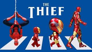 Spider-man vs Ironman Nendoroid Stealing Iron Man's Armor In Spider-verse    Figure Stopmotion