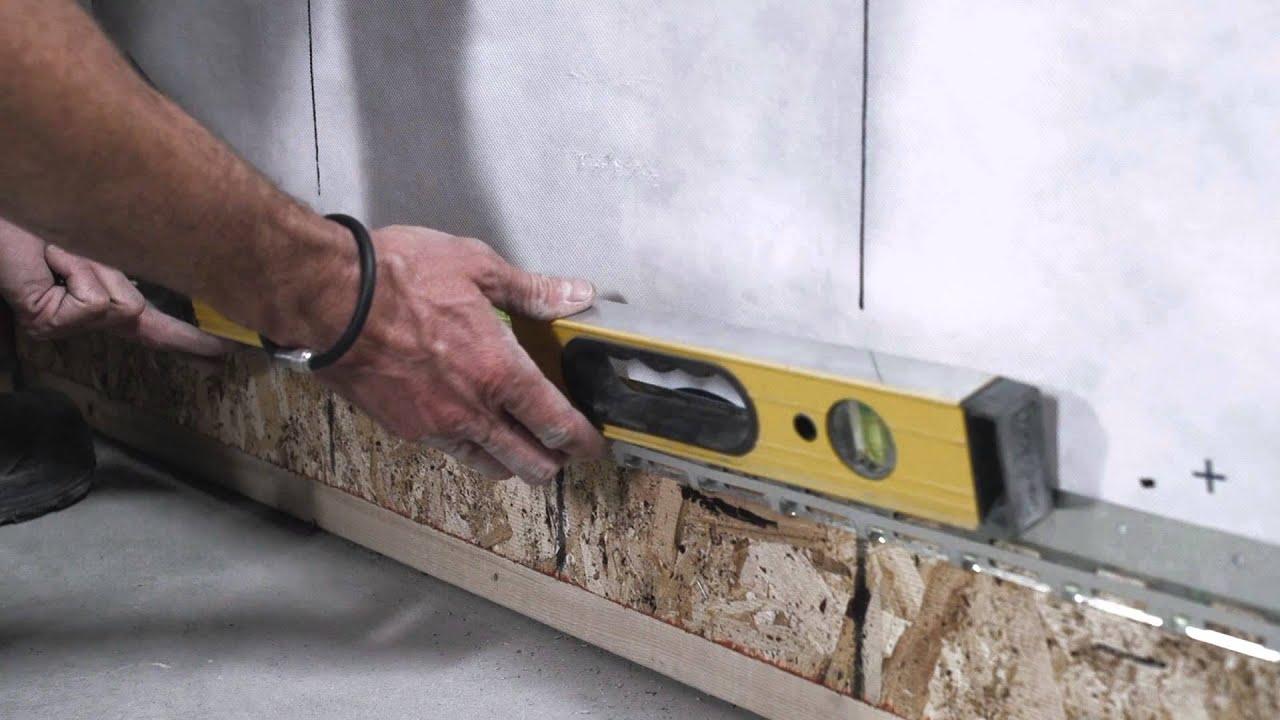 Beonstone Installation Step 2 Starter Strip Youtube