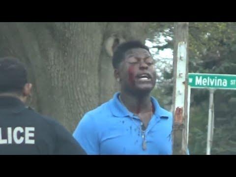 Milwaukee cops beat poor black man...