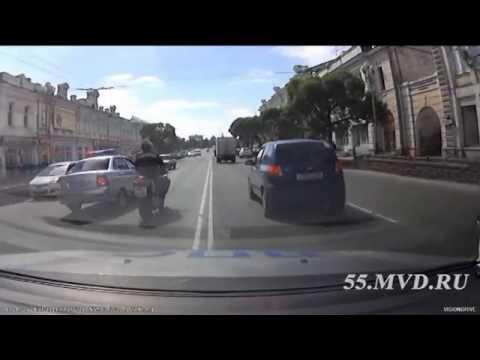 Омская полиция: как останавливать мотоциклистов | Omsk police: how to stop motorcyclists