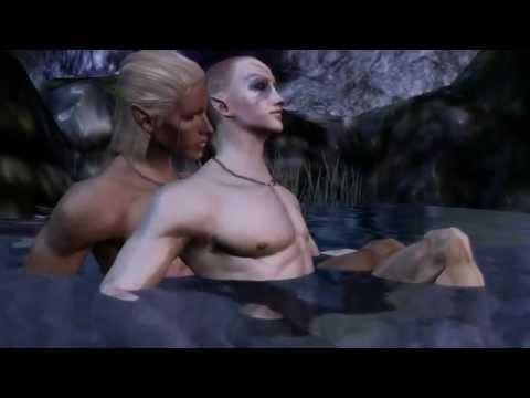 Dragon Age Origins  Zevran Romance Scenes 18+ Yaoi Warning!