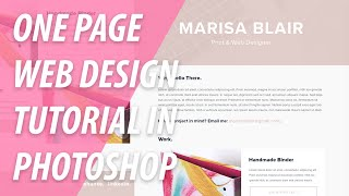 One Page Website Design Tutorial In Photoshop