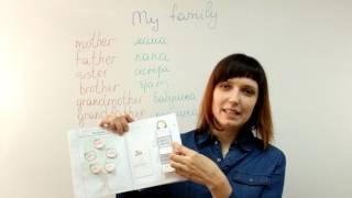 Английский язык для детей. Интерактивные тетради. Лексика по теме «Семья». My family