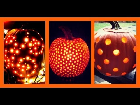 Use A Drill To Carve Your Pumpkins Youtube