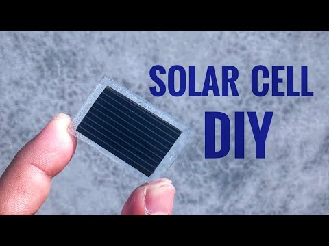 How to make solar cell or panel at home diy