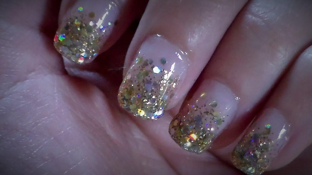 Inspired nail art tutorial (Kiss gel fantasy inspired nails) - YouTube