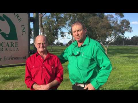 Geoff and Greg talk landcare.