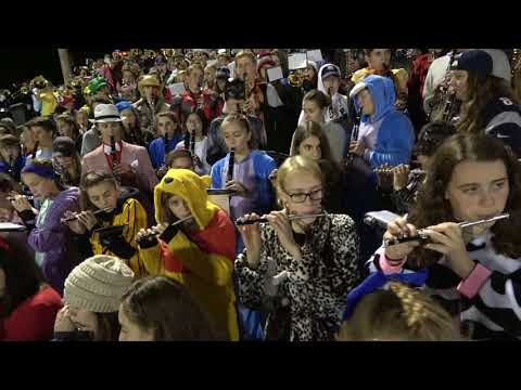 National Anthem Combined with Salem High & Pep Songs at Lancer Park, 10/27/17
