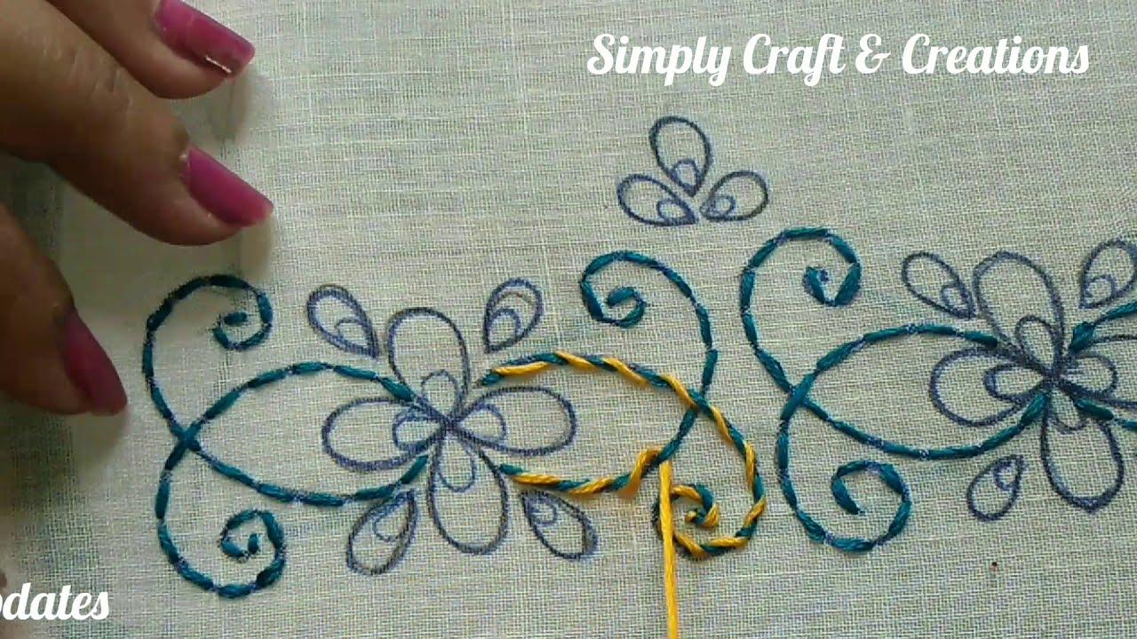 Hand embroidery  20 Border Embroidery 20 / Border Embroidery design