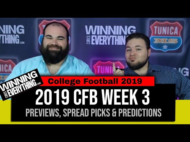 WCE: 2019 College Football Week 3 Preview & Big Game Spread Picks