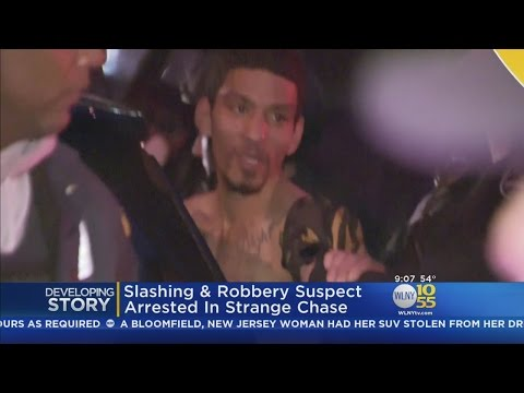 Slashing, Robbery Suspect Arrested Following Bizarre Chase