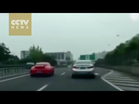 High speed Porsche chase through Shanghai streets sparks online outrage