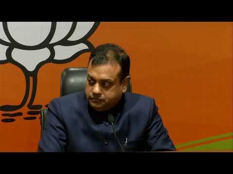 Press Conference By Dr Sambit Patra At BJP Head Office, New Delhi