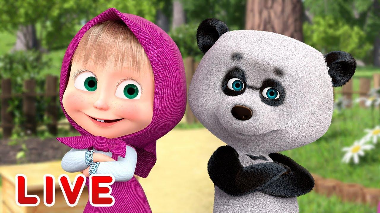🔴LIVE! Mascha und der Bär - ❤️  Mascha und ihre Freunde ❤️   🎬 Zeichentrickfilme für Kinder 2020