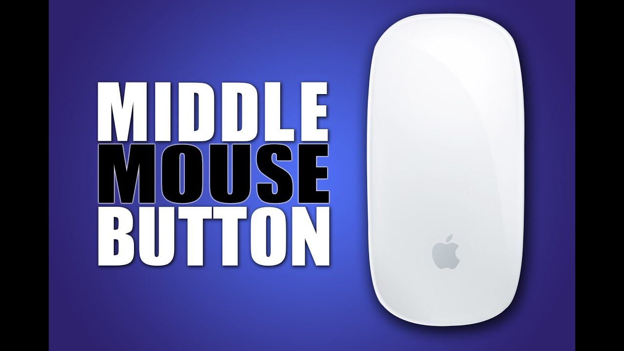 Use The Middle Mouse Button on iMac (Magic Mouse)