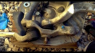 Part 1 BMW E39 E38 M5 Front Control Arm Suspension And Tie Rod Replacement 525i 528i 530i 740i 740il