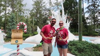 We Went Mini Golfing At Disney World | Winter Summerland Miniature Golf Winter Side