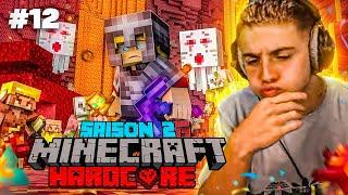 J'SUIS PARTI UN PEU LOIN DANS LE NETHER LÀ ! 🥵 (Aventure Hardcore Minecraft #12)