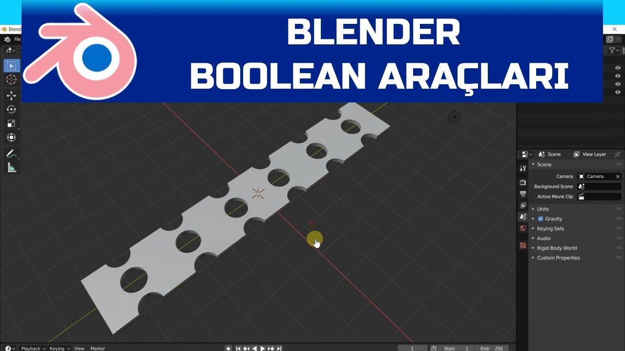 Blender - Boolean Araçları - YouTube