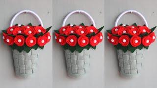Diy bunga gantung dari kain flanel   hiasan dinding dari kain flanel   diy wall hanging