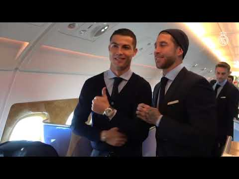 Real Madrid have arrived in Abu Dhabi