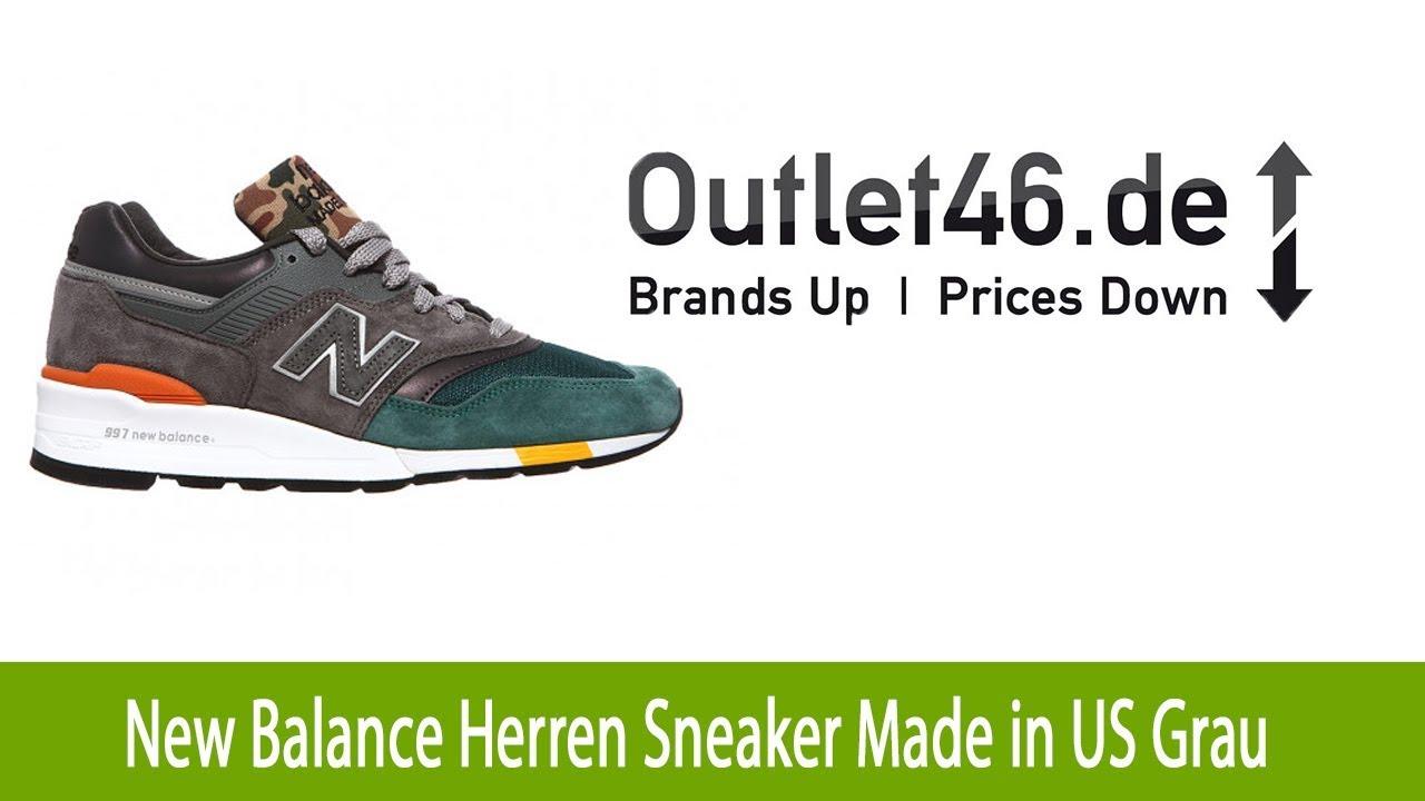 Originaler New Balance Herren Sneaker Made in US Grau l
