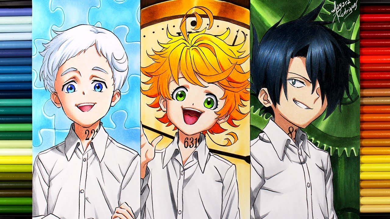 Drawing Norman Emma And Ray The Promised Neverland