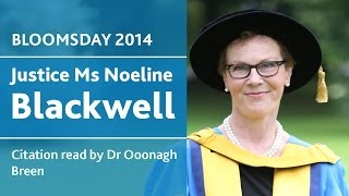 UCD Honorary Degree of Doctor of Laws for Noeline Blackwell | Bloomsday 2014