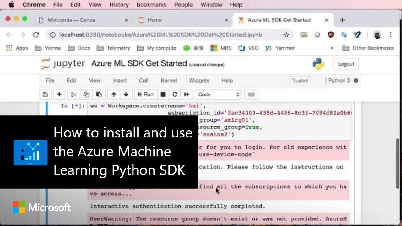 How to install and use the Azure Machine Learning Python SDK