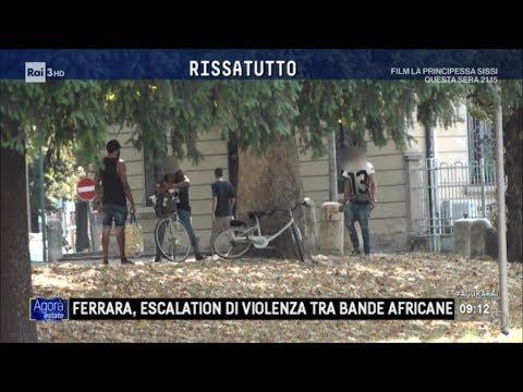 Ferrara: escalation di violenza tra bande di africani - Agorà Estate 09/08/2017