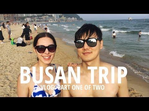 VLOG: Train to BUSAN 🌊 Pt.1 국제커플 부산 해운대 여행 & 맛집 파트 1