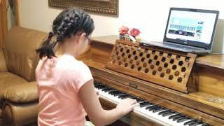 After one day of FREE piano lessons from Hoffman Academy on Youtube!